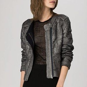 New Maje Kalder Ottoman metallic knit jacket